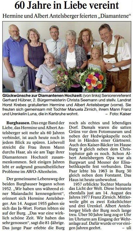PNP_20150822_Hübner_Diamanthochzeit