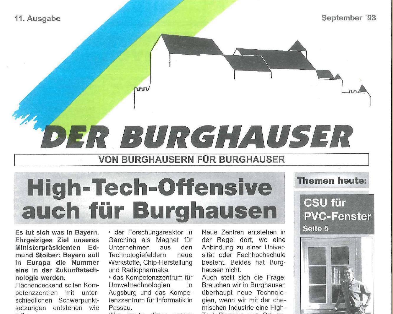 Der Burghauser_199809_titel