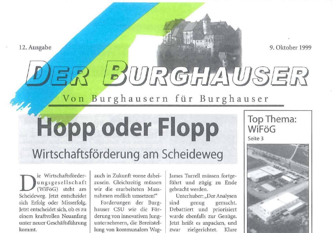 Der Burghauser_199910_titel