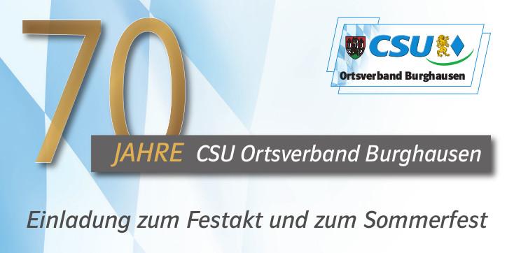 Einladung 70 Jahre CSU Burghausen_header